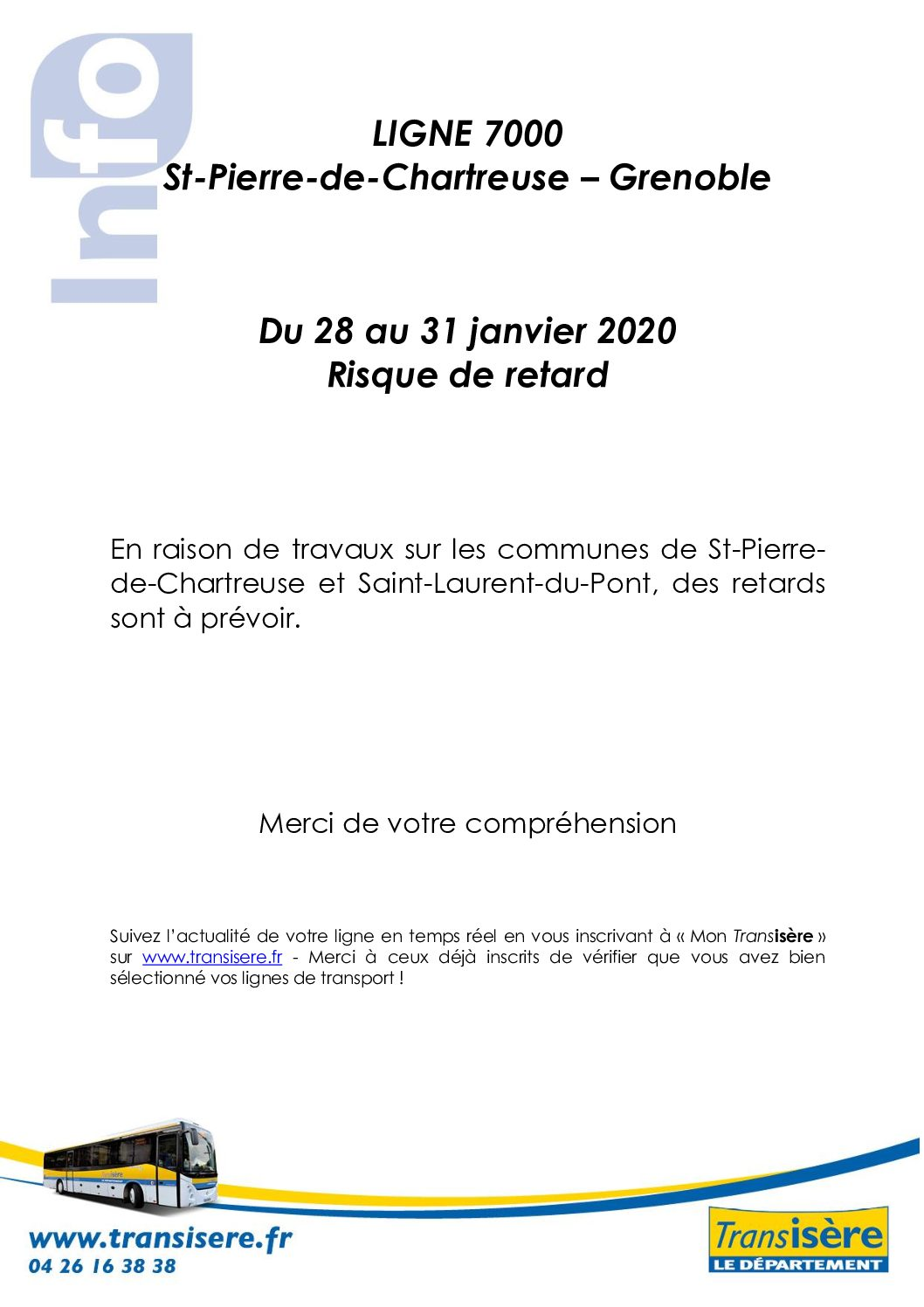 Ligne 7000 St Pierre de Chartreuse – Grenoble